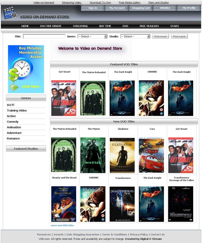 Video On Demand Store